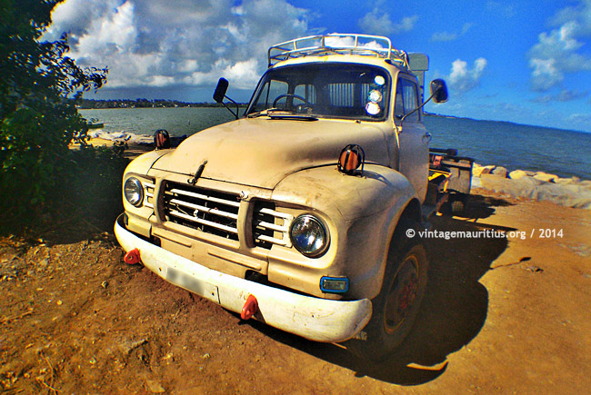 Sand Color Bedford Lorry at Quatre Soeurs - Mauritius