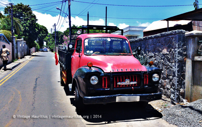 Real Vintage Red Bedford Lorry at Beau Bassin - Mauritius