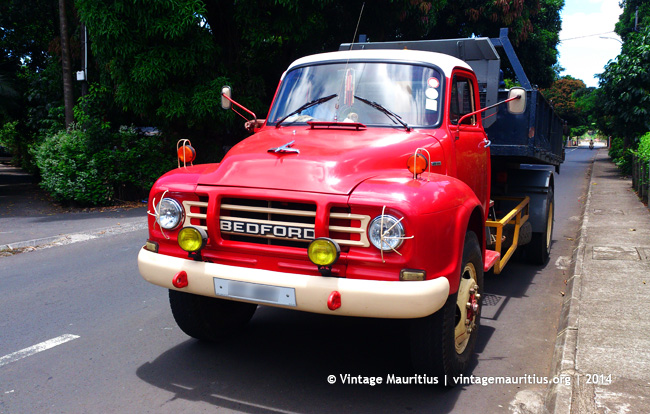 Red Bedford Lorry at Bel Air - Mauritius