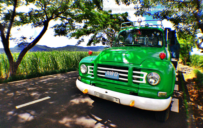 Green Bedford Lorry at Belle Rive - Mauritius