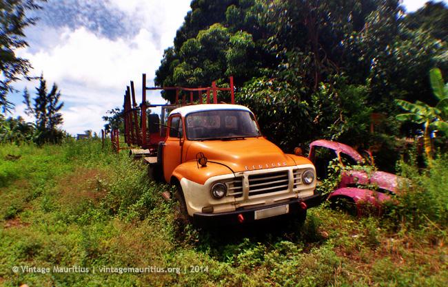 Orange Bedford Lorry at Piton - Mauritius