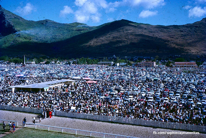 Port Louis - Champ de Mars - Crowd of the Maiden - 1966 (Courtesy: Sophie Cayeux)