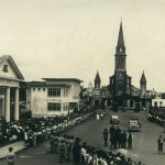 Curepipe – The Municipal Library and St. Therese Church – 1950s