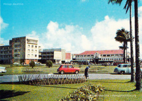 Curepipe Old Market viewed from Municipal Garden - 1972