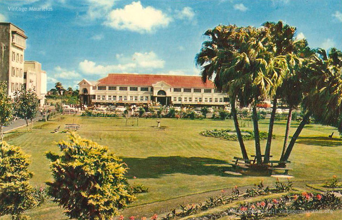 Curepipe Old Market Viewed from the Municipal Garden - 1970s