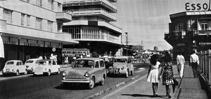 Curepipe - Royal Road Junction - 1975 (Courtesy: France Athow)