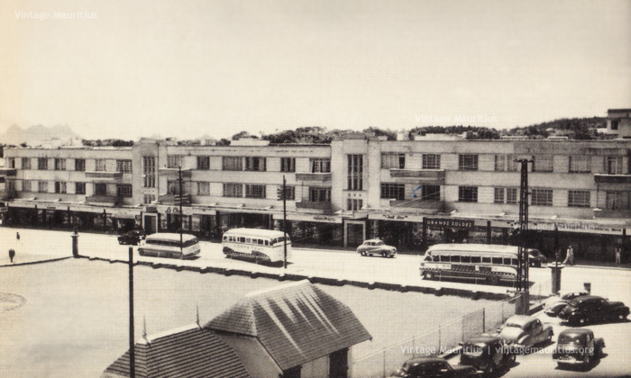 Curepipe - Royal Road and the Merven Building - 1950s