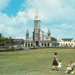 Curepipe – The Municipal Garden and St Therese Church – 1972
