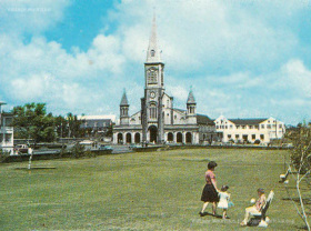 Curepipe - Municipal Garden & St Therese Church and St Joseph Chapel - 1972