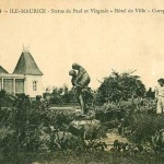 Curepipe – The Town Hall Garden and Paul and Virginie Statue – 1924