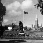 Curepipe – The Town Hall Garden and the Union Jack – 1950s
