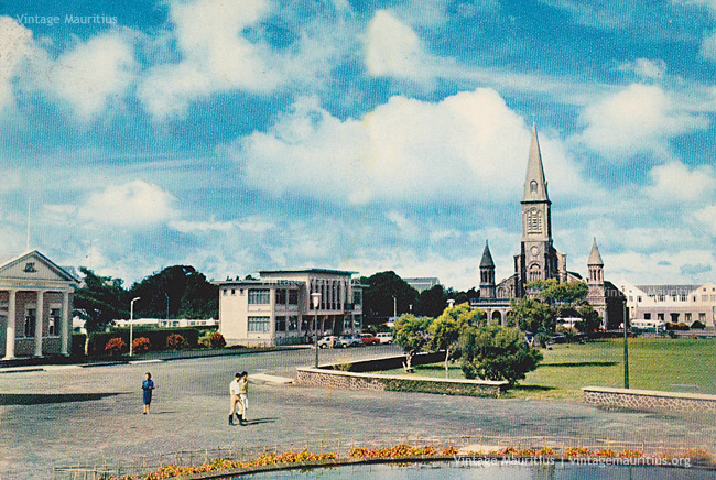 Curepipe Town Hall Yard - St Therese Church - 1976