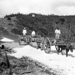Curepipe – Concretising of the path round the Trou aux Cerfs – 1940s