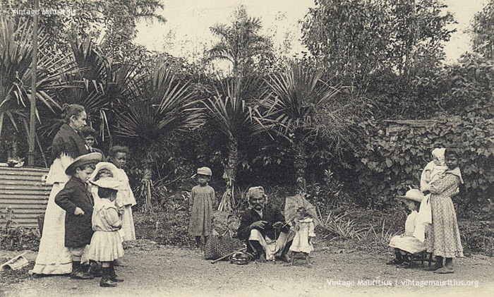 Street Entertainment of the Past - Curepipe - The Clever Monkey - 1910s