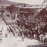 Port Louis – Guard of Honour Marching to Government House on La Chaussée Street – early 1900s