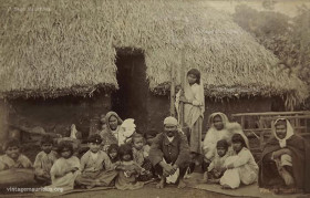 Indian Family - Indentured Labourers - Vacoas Mauritius - 1920s