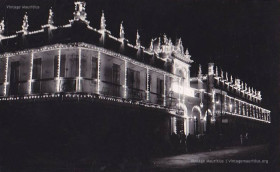 Jummah Mosque at Night - 1950s - Eid Celebration