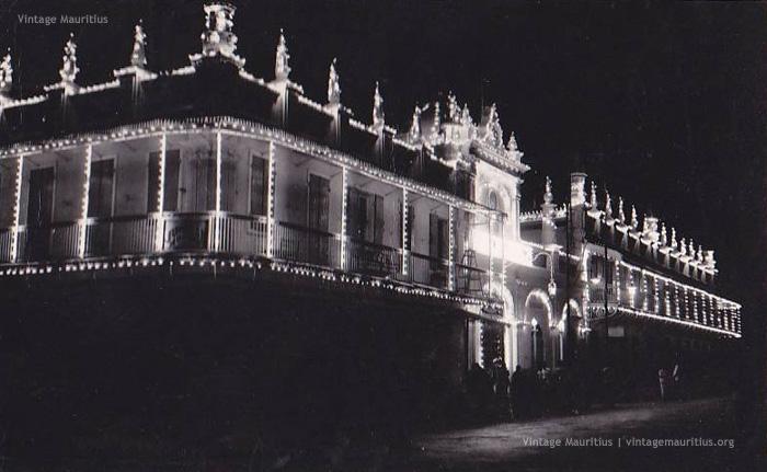 Jummah Mosque at Night - 1950s - Eid Celebration