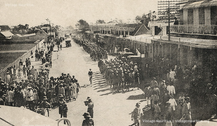 Mauritius Volunteer Force - Parading in Curepipe - 1922
