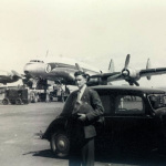 Plaisance – The Airfield with the Super Constellation Plane – 1950s
