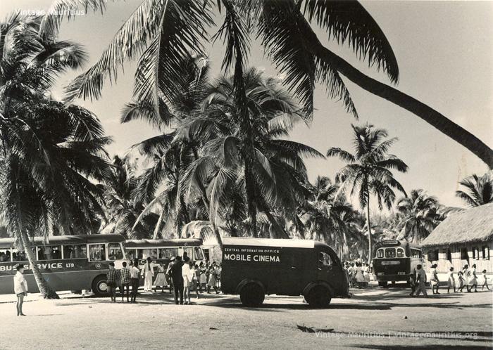 Pointe aux Canonniers - Mobile Cinema - Mauritius - 1960s