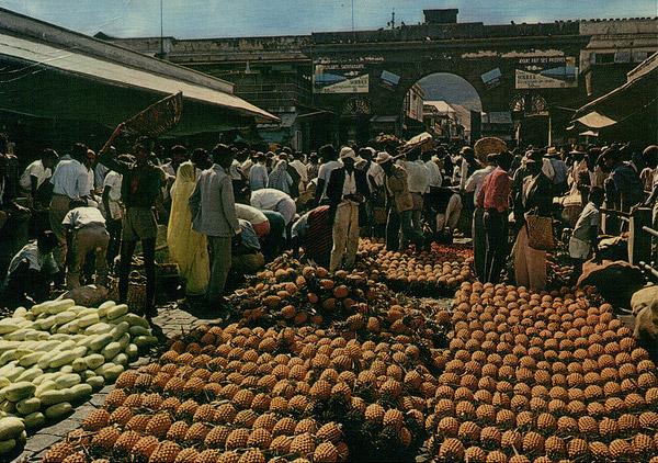 Port louis central market 1970s vintage mauritius - Mauritius market port louis ...