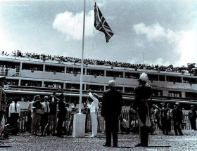 Port Louis Champ de Mars Independence Day Flag Raising 1968