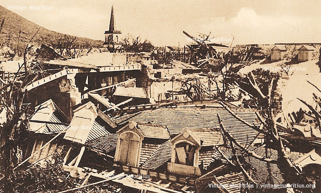 Port Louis - Cyclone 1892 - Poudriere Street - St James Cathedral