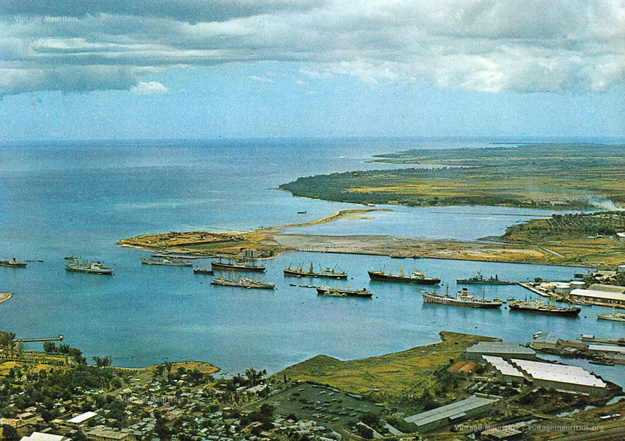 Port Louis Harbour - Viewed From Signal Mountain - 1970s