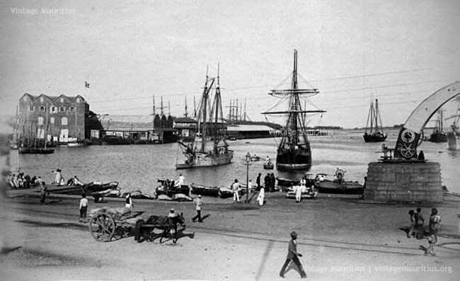 Port Louis - The Harbour and Docks - 1890s