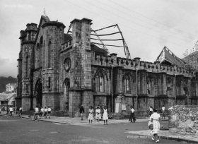 Port Louis - Immaculate Conception Church - Cyclone Jenny - 1962
