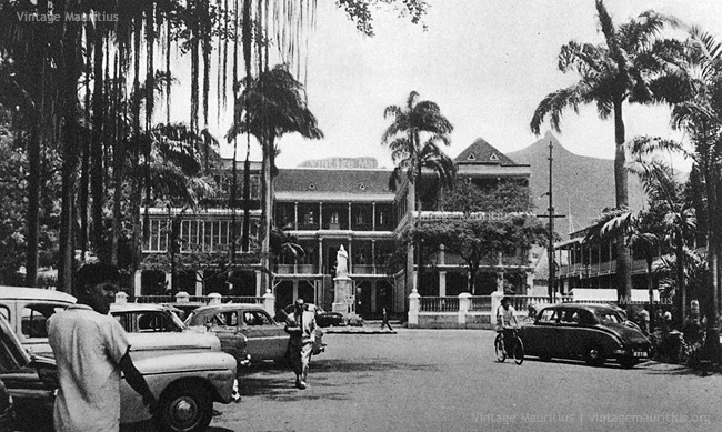 Port Louis - Place D'Armes and the Government House - 1960s