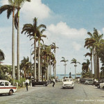 Port Louis – Place D'Armes – The Taxi Stand and Vintage Cars – 1967