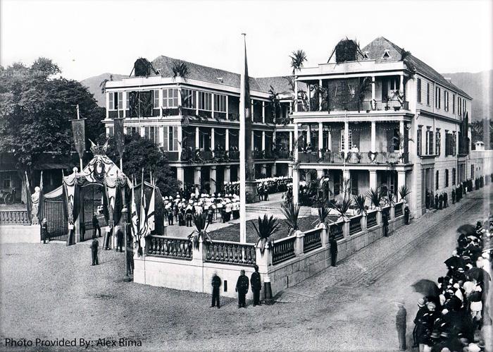 Port Louis - Place D'Armes - Government House - Celebration - 1870s