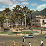 Port Louis – Place D'Armes – Labourdonnais Square – Old Fountain – 1970s