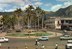 Port Louis - Place D'Armes - Labourdonnais Square - The Old Fountain - 1970s