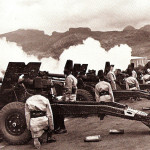Port Louis – King's African Rifles (KAR) regiment firing Canons at the Pleasure Ground – 1952