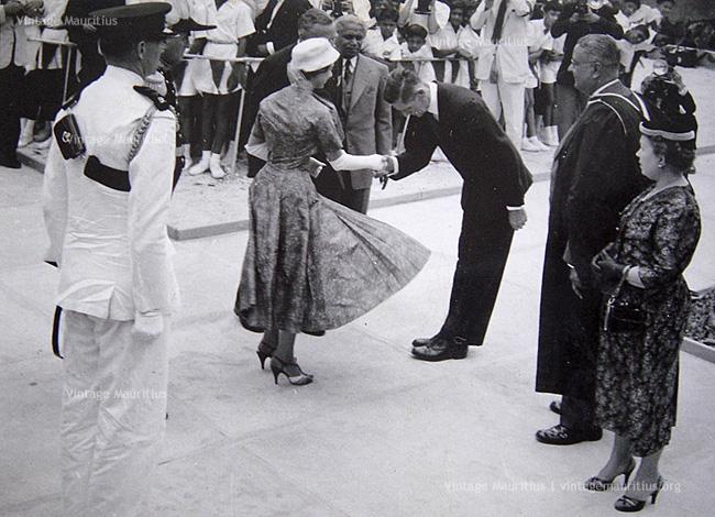 Port Louis - Princess Margaret laying First Stone - Royal College Port Louis - 1956