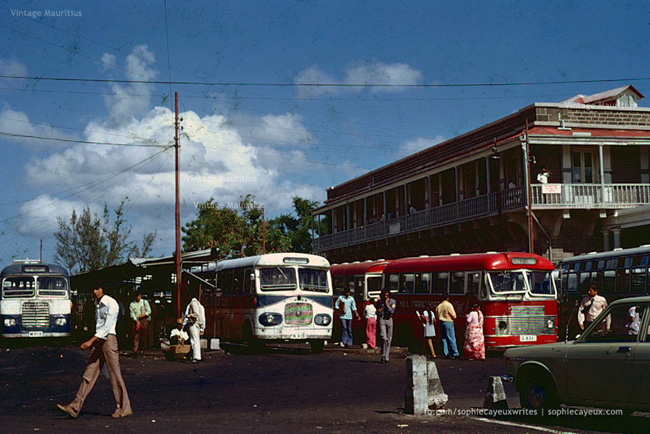 Port Louis - Victoria Bus Station - 1975 - Mauritius - Courtesy: Sophie Cayeux