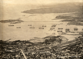 Port Louis Viewed from Signal Mountain - 1899