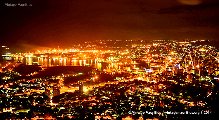 Port Louis Viewed from Signal Mountain at Night - 2014
