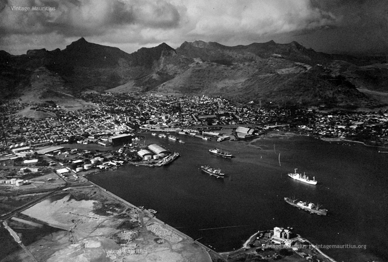 Port Louis Viewed from the Air - 1970s