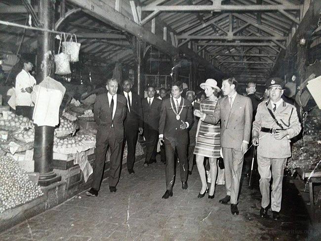 Princess Alexandra Visits Mauritius - 1970s - Port Louis Central Market