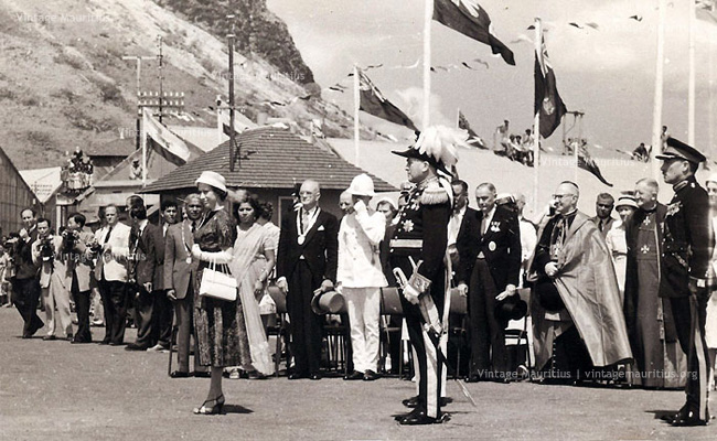 Princess Margaret Visits Mauritius - with Governor Sir Robert Scott & SSR - 1956
