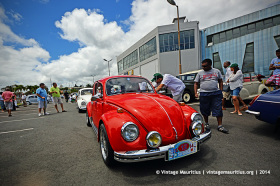 Red VW Beetle Classic Vintage Car Mauritius