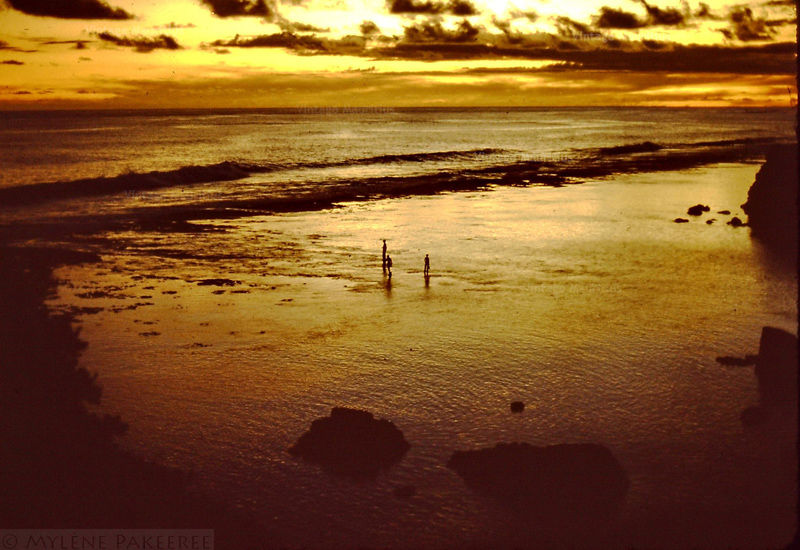 Sunset Over Gris Gris Beach - Souillac - Mauritius - 1980s (Courtesy: Mylene Pakeeree)