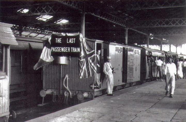 The Last Passenger Train Rose Hill Station 1956