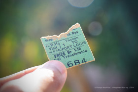 Old Train Ticket during Princess Margaret's visit to Mauritius back in 1956