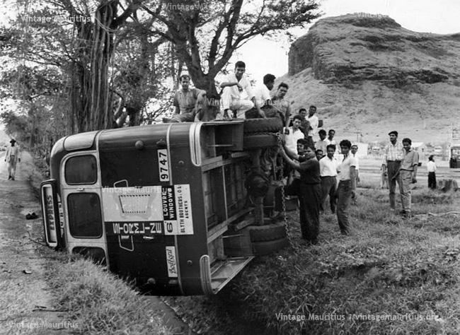 Ubs Stormline Bus Accident At Cite Vallijee Around 1970s